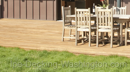 Garapa Decking in Washington