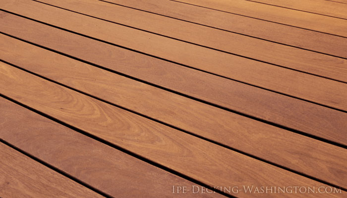 Closeup of Ipe Deck Boards in Washington